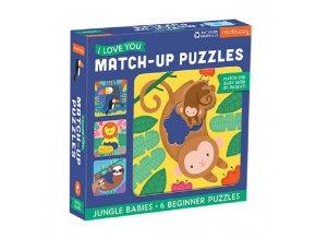 Match-Up Puzzle - Mláďata z džugle / Jungle Babies