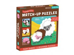 Match-Up Puzzle - Mláďata z farmy / Farm Babies