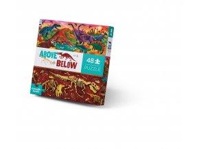 Nad zemí a pod zemí puzzle - Svět dinosaurů (48 dílků) / Above & Below - Dinosaur World