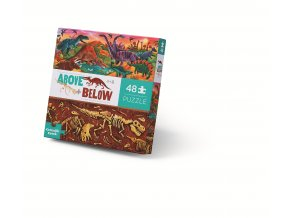 Nad zemí a pod zemí puzzle - Svět dinosaurů (48 ks) / Above & Below - Dinosaur World (48 pc)