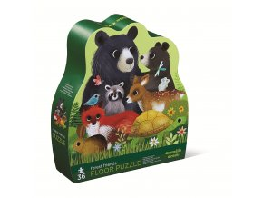 Puzzle - Přátelé z lesa (36 dílků) / Shaped Puzzle - Forest Friends