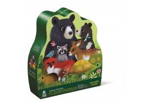 Puzzle - Přátelé z lesa (36 ks) / Shaped Puzzle - Forest Friends ( 36 pc)