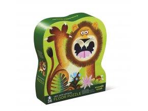 Puzzle - Divoká zvířata (36 ks) / Shaped Puzzle - Very Wild Animals (36 pc)
