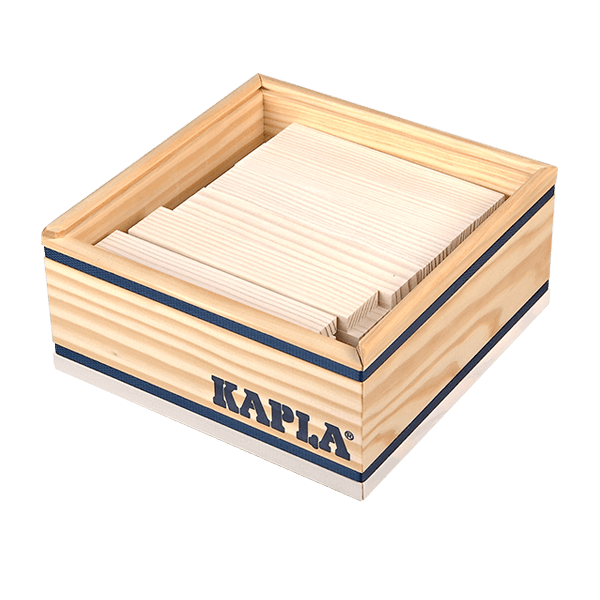 Kapla – Tom van der Bruggen Kapla monocolor sada 40 bílá
