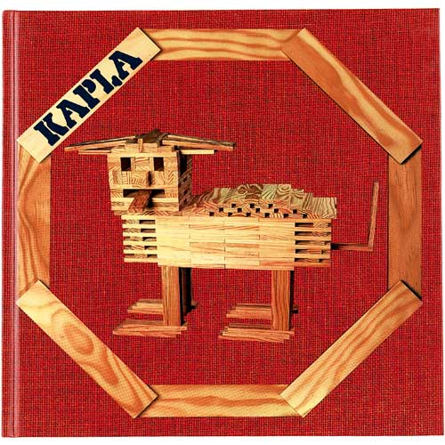 Kapla – Tom van der Bruggen Kapla knížka nápadů červená