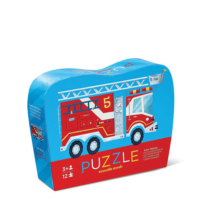 Crocodile Creek Mini puzzle – Hasiči (12 ks) / Mini Puzzle – Fire Truck (12 pc)