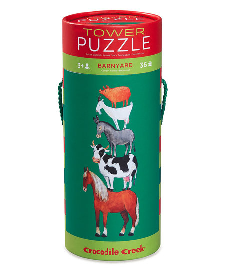 Crocodile Creek Tower Puzzle – Barnyard