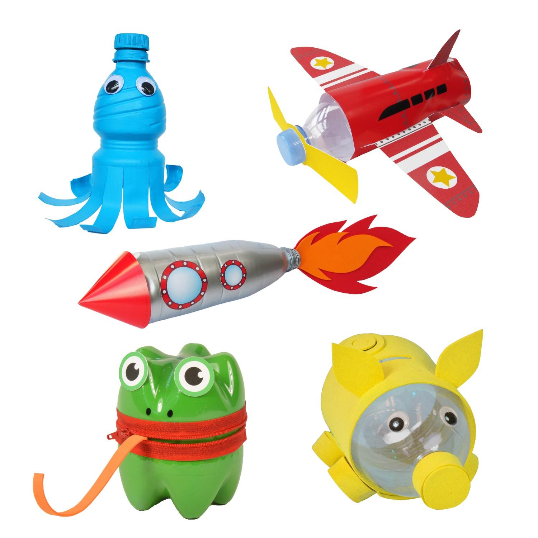 Fun2 Give Re-cycle-me - set pro kluky - PET láhev