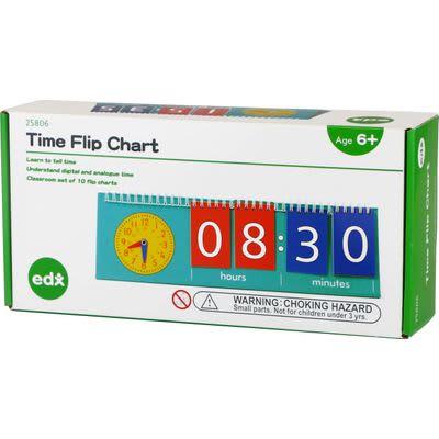 EDX Education Time Flip Chart, Student Size (10)
