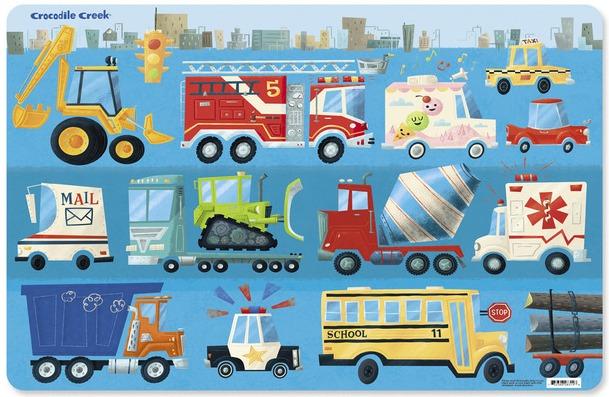 Levně Crocodile Creek Prostírání Auta (1ks) / Placemats Busy Vehicles (1pc)