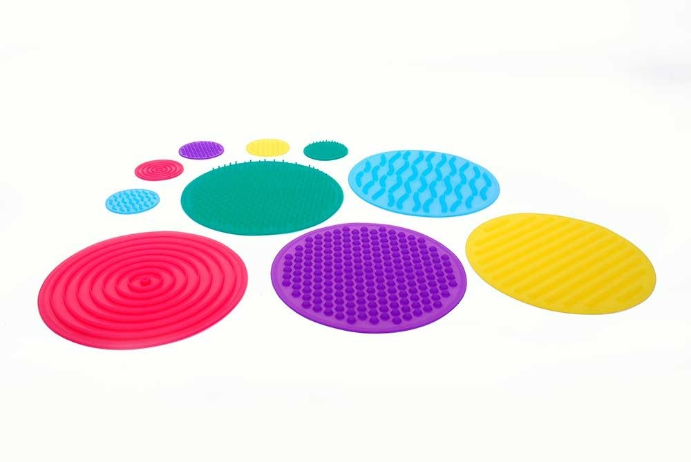 TickiT Smyslové silikonové pexeso / Silishapes, sensory circle set