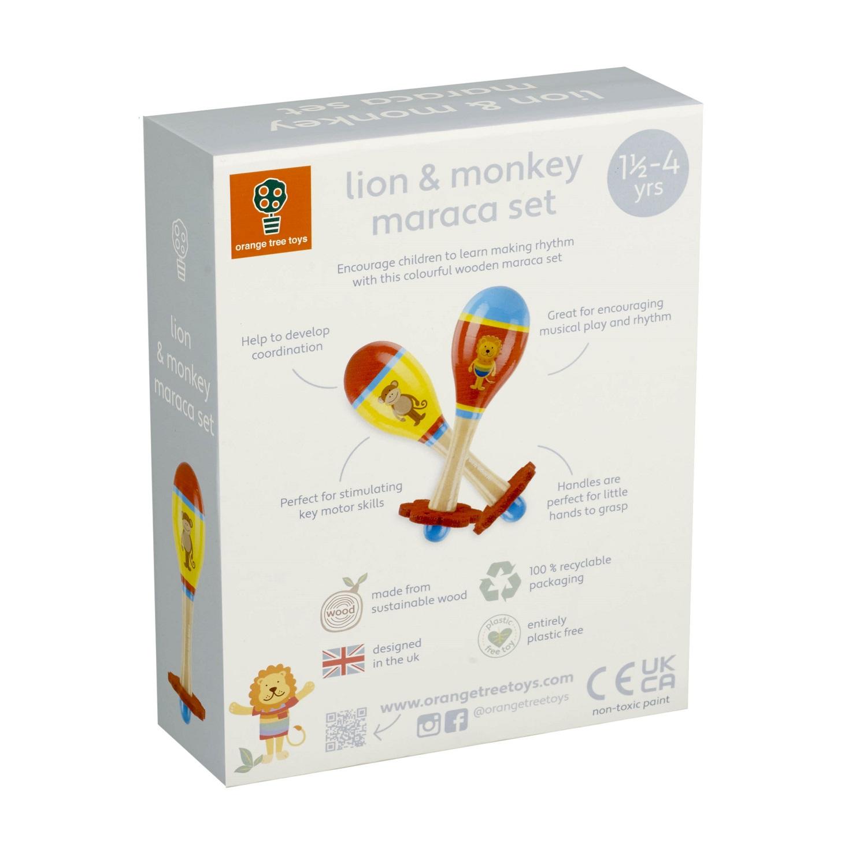 Levně Orange Tree Toys Rumbakoule - Lev a opice