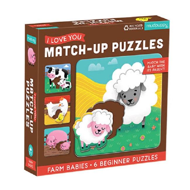 Levně Mudpuppy Match-Up Puzzle - Mláďata z farmy / Farm Babies