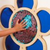 10589 2 mark making sequin and mirror daisy frame blue
