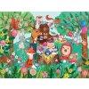 Mini puzzle truhla - Zahradní party (24 ks) / Mini puzzle chest - Garden Party (24 pc)