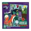 Magnetické puzzle - Les ve dne i v noci / Magnetic Fun - Forest Night & Day