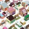 Papírové město 3 - fialovorůžové