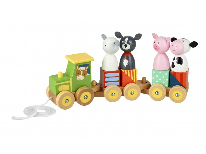 Puzzle vláčik farma / Farm Animal Puzzle Train