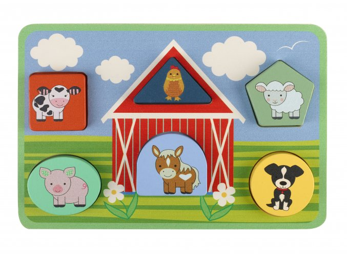 Puzzle farma / Farm Animals Shape Puzzle
