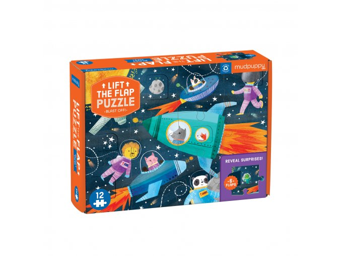 13113 puzzle lift the flap startujeme lift the flap puzzle blast off