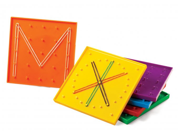 Geoboard mix farieb 6ks, 15 cm / Geoboard Mixed Colour 6PC, 15cm