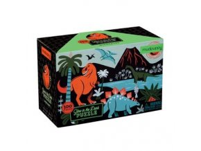 Glow in the dark puzzle- S dinosaurami