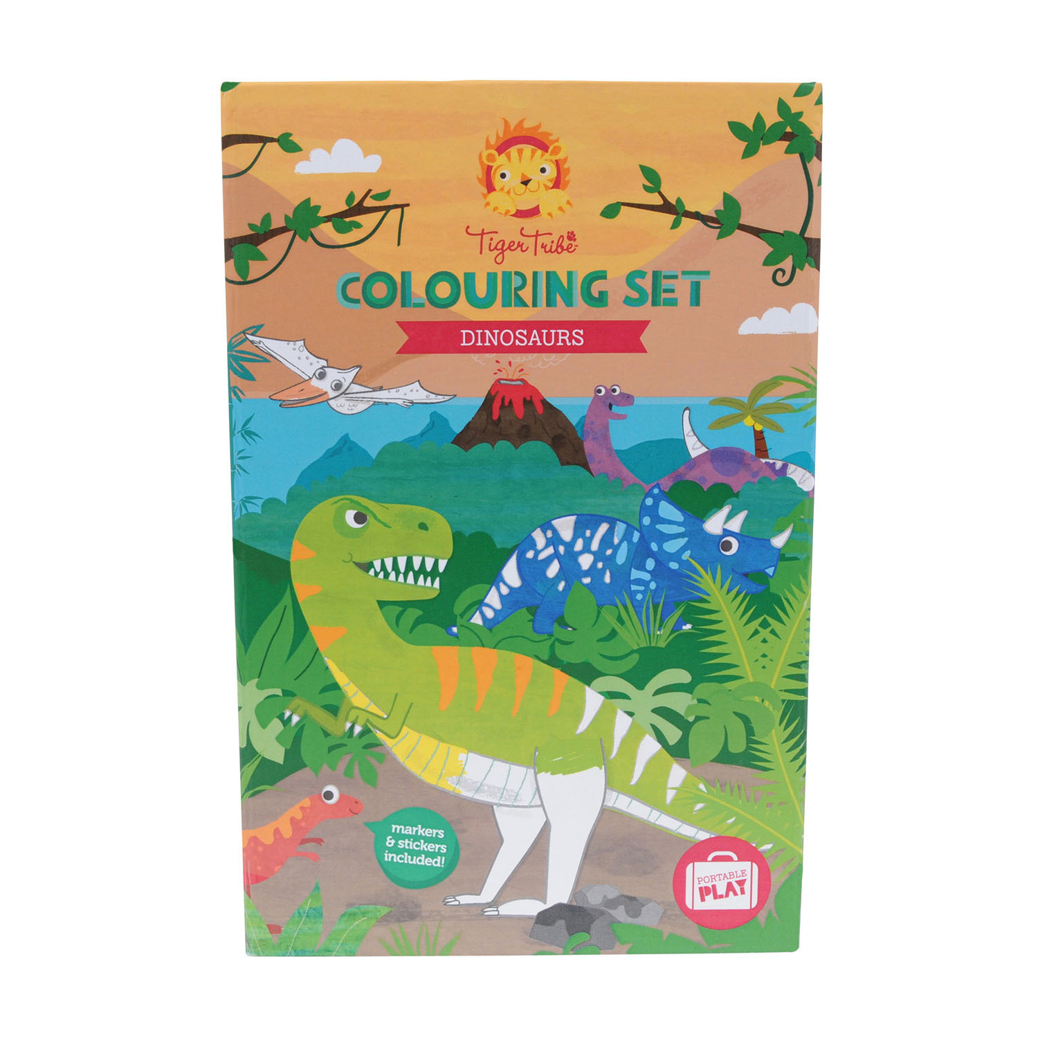 Tiger Tribe Colouring Set - Dinosaur - Dinosaury
