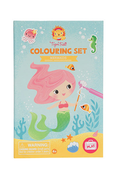 Tiger Tribe Colouring set/Mermaids