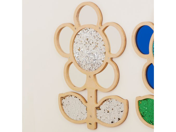 Mark Making Sequin and Mirror Daisy Frame Silver