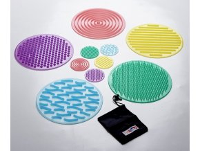 5886 taktilni silikonove pexeso silishapes sensory circle set