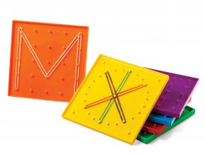 Geoboard - 6 ks mix barev / Geoboard Mixed Colour 15 cm PK6