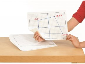 Centimeter Grid Plastic Dry Erase Boards(30),