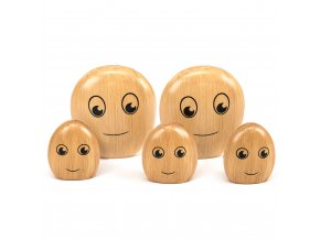 The Wooden Pebble Family