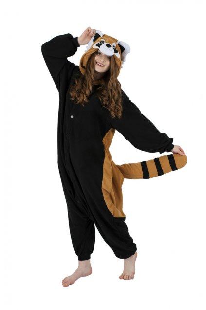 Originál Kigu overal - panda červená