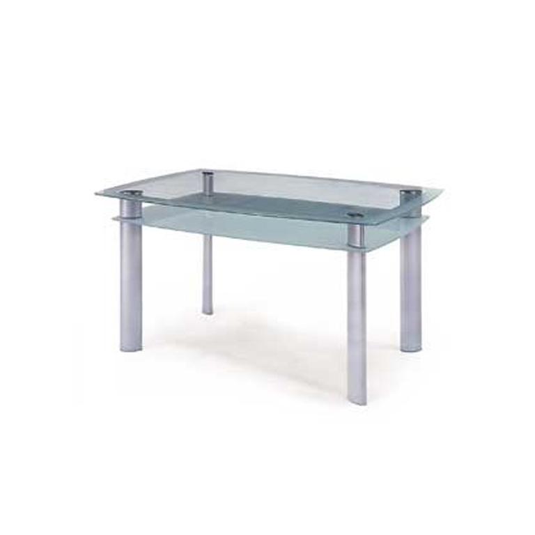 Jídelní stoly sklo/kov