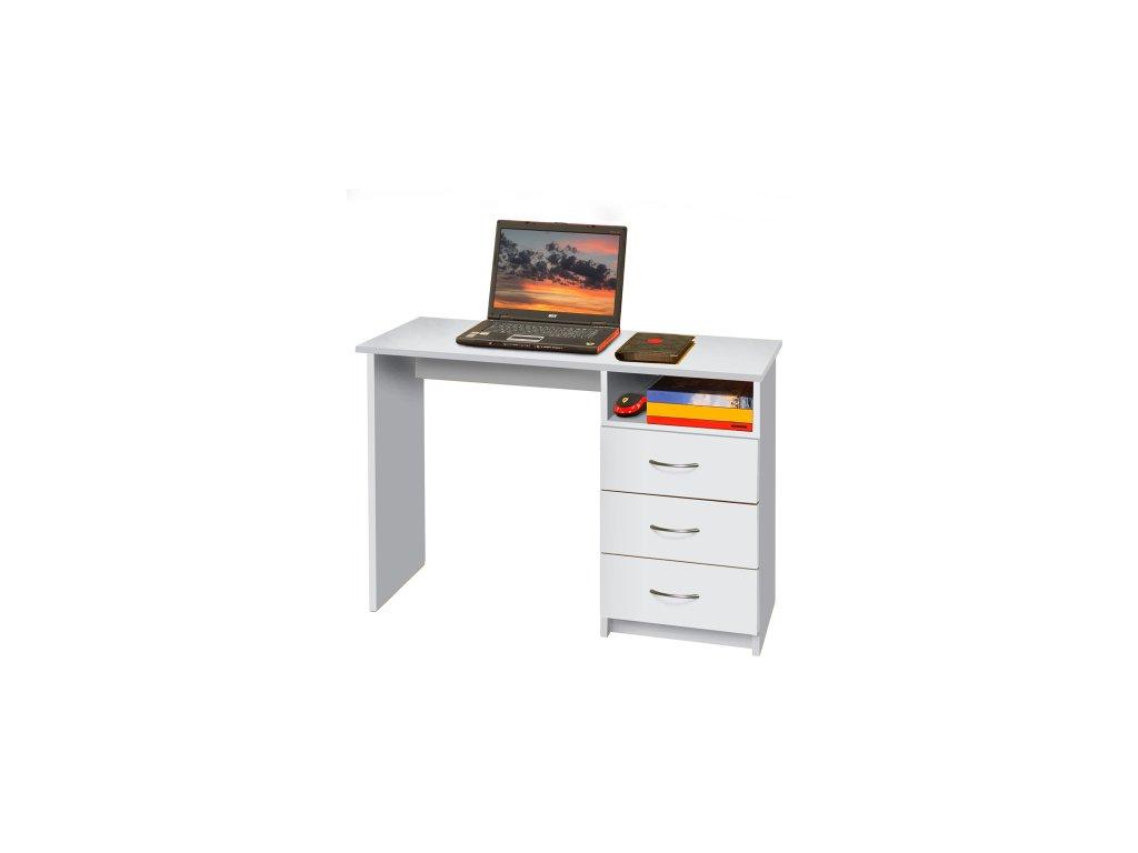 Psací (PC) stůl - bílý -SKLADEM