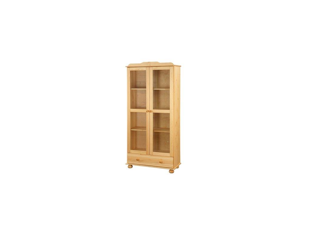 Dřevěná knihovna I8050 borovice masiv