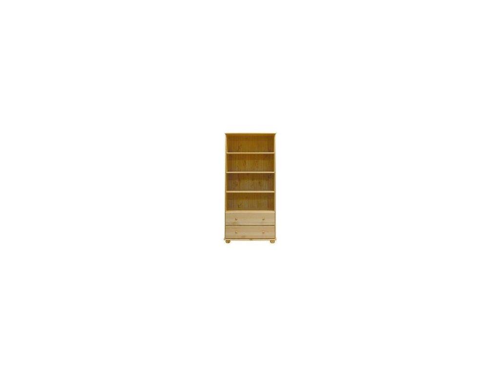 Knihovna se šuplíky  C67 borovice masiv