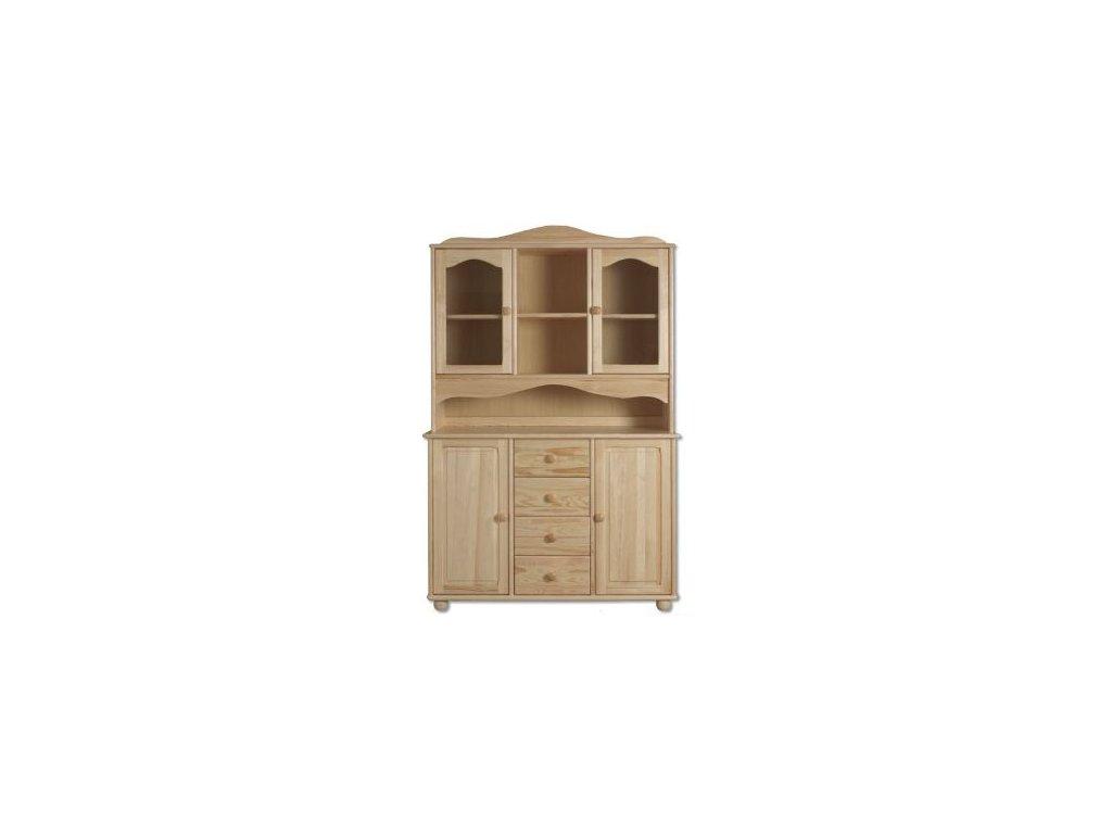 Dřevěný stylový kredenc KIK 103 borovice masiv