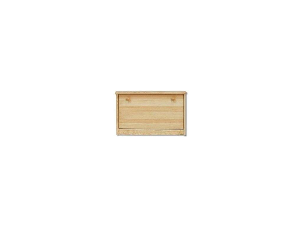 Výklopný dřevěný botník KIK 117 borovice masiv