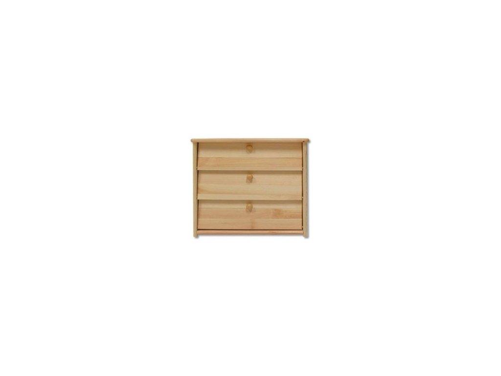 Dřevěný  výklopný botník KIK 123 borovice masiv - 3 řady