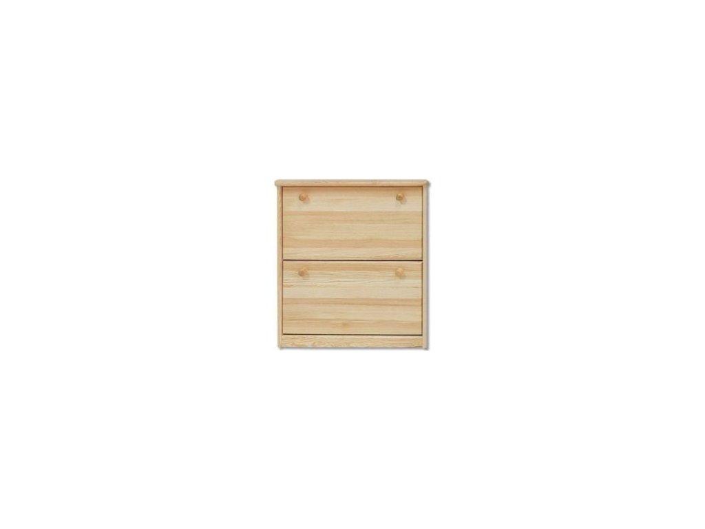 Dřevěný výklopný botník KIK 116 borovice masiv