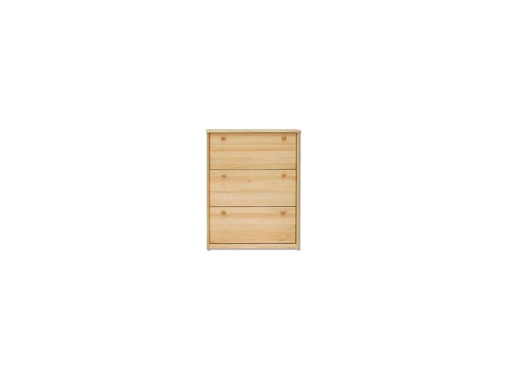 Dřevěný výklopný  botník KIK 113 borovice masiv