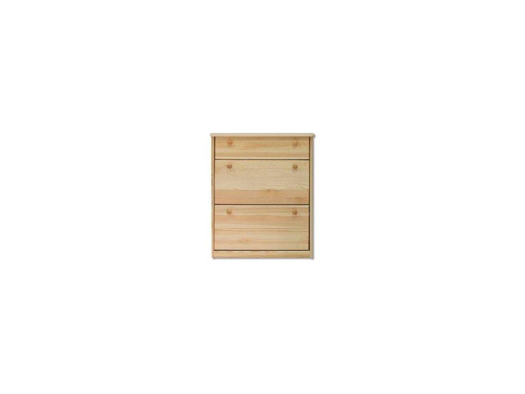 Dřevěný výklopný  botník KIK 115 borovice masiv