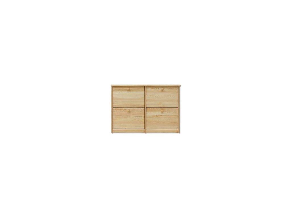 Výklopný dřevěný botník KIK 119 borovice masiv široký  110 cm