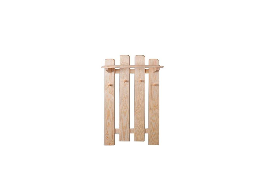 Dřevěný věšák  s policí KIK 132 borovice masiv