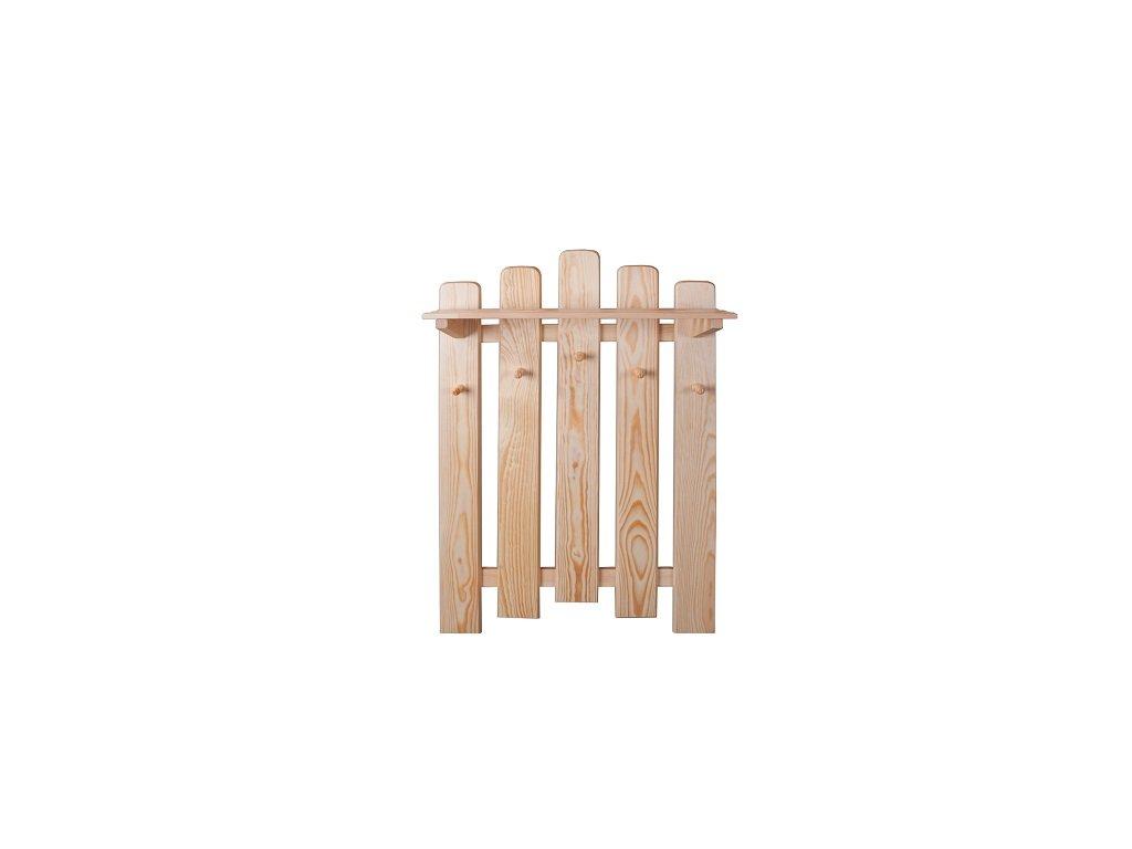 Dřevěný věšák  s policí KIK 133 borovice masiv
