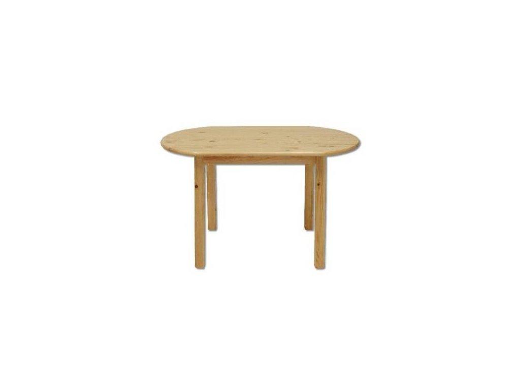 Oválný dřevěný jídelní stůl z masivu KIK 106 115x75x75 cm