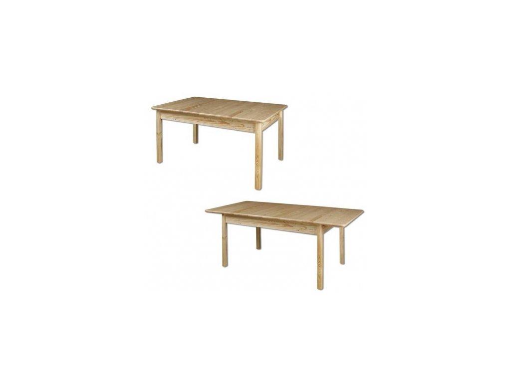 Rozložitelný dřevěný jídelní stůl z masivu  KIK 102 140(200)x75x90 cm