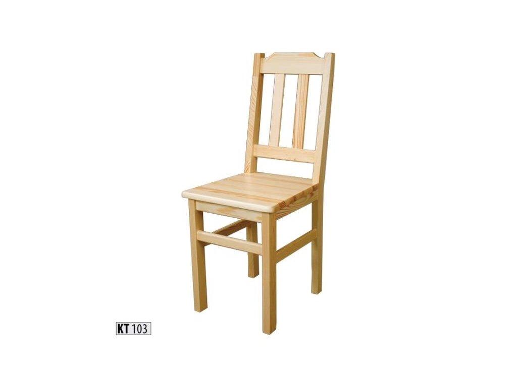 Masivní dřevěná jídelní židle KIK 103 borovice masiv